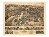 1881, Essex - Center Brook - Ivoryton Bird's Eye View, Connecticut, United States Giclee Print