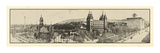 1912, Mormon Temple Grounds Salt Lake City Panorama Photo, Utah, United States Giclee Print