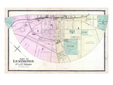 1877, Lexington - Wards 1 and 4, Kentucky, United States Giclee Print