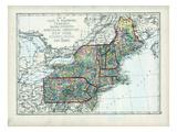 1873, Maine, New Hampshire, Vermont, Massachusetts, Rhode Island, Connecticut, New York, USA Giclée-Druck