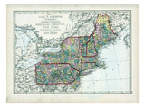 1873, Maine, New Hampshire, Vermont, Massachusetts, Rhode Island, Connecticut, New York, USA Giclee Print