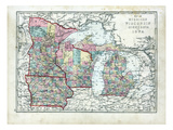 1873, Michigan, Wisconsin, Minnesota, Iowa, USA Giclee Print