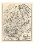 1907, Hunting and Fishing Karte von Northern Maine from Piscataquis Directory, Maine, United Stat Giclée-Druck