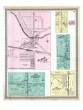 1899, Orangeville Village, Vienna Center, Burghill P.O., Hartford Center, Kinsman Station, Ohio, Un Giclee Print