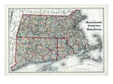 1873, Massachusetts, Connecticut, Rhode Island, USA Giclée-Druck