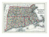 1873, Massachusetts, Connecticut, Rhode Island, USA Giclee Print