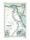 1898, 500 BC, Jordan, Saudi Arabia, Egypt, Asia, Africa, Tyrus, Alexandria, Jordon Giclee Print
