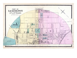 1877, Lexington - Wards 2 and 3, Kentucky, United States Giclee Print