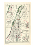 1898, 500 BC, Israel, Jordania, Lebanon, Syria, Phoenice, Palaestina, Hierosolyma Impressão giclée