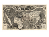 1507, World, First Map of America Giclee Print