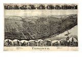 1899, Toronto Bird's Eye View, Ohio, United States Giclee Print
