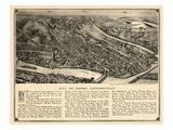 1920, Derby Bird's Eye View, Connecticut, United States Giclee Print