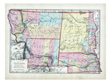 1873, Nebraska, Dakota, Montana, Wyoming, USA Giclee Print