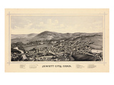 1889, Jewett City Bird's Eye View, Connecticut, United States Giclee Print