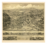 1881, Higganum Bird's Eye View, Connecticut, United States Giclee Print