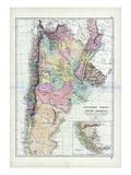 1873, South America, La Plata, Chili, Paraguay, Uruguay, Patagonia Giclee Print