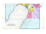 1891, Lake Geneva City - South, Wisconsin, United States Giclee Print
