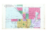 1891, Lake Geneva City - North, Wisconsin, United States Giclee Print