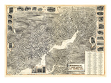 1899, Norwalk, Bird's Eye View, Connecticut, United States Giclee Print