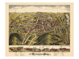 1877, Rockville Bird's Eye View, Connecticut, United States Giclee Print