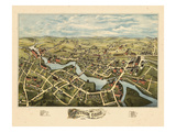1877, Putnam Bird's Eye View, Connecticut, United States Giclee Print