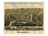 1879, Seymour Bird's Eye View, Connecticut, United States Giclee Print