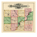 1875, Butler County Map, Ohio, United States Giclee Print