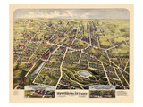 1875, New Britain Bird's Eye View, Connecticut, United States Giclee Print