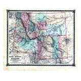 1876, County Map of Idaho, Montana and Wyoming, Missouri, United States Giclee Print