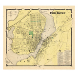 1868, Fair Haven Plan, Connecticut, United States Giclee Print
