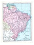 1913, Argentina, Brazil, French Guiana, Guyana, Paraguay, South America, Brazil and Guiana Giclee Print