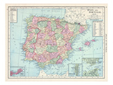 1913, France, Portugal, Spain, Europe Giclee Print