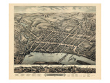1877, Middletown Bird's Eye View, Connecticut, United States Giclee Print