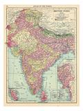 1913, Afganistan, Bhutan, India, Nepal, Sri Lanka, Asia, British India Giclee Print