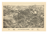 1899, Pittsfield Bird's Eye View, Massachusetts, United States Giclee Print