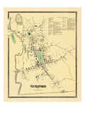1868, Guilford, Connecticut, United States Giclee Print
