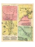 1883, Highland Plantation, Flagstaff Plantation, Bigelow, Lexington, Dead River, Maine, USA Giclee Print