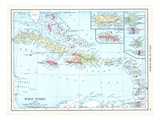 1913, Bahamas, The, Cuba, Dominican Republic, Jamaica, Puerto Rico, Central America, West Indies Giclee Print