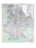 Brooklyn 1920 Transit Map Giclee Print