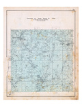 1903, Township 18 North, Range 32 West, Gallatin P.O., Logan P.O., Hoover P.O., Springtown, Arkansa Giclee Print
