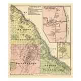 1877, Van Buren, Blaine, Van Buren, Cyr Plantation, Hamlin Plantation, Maine, United States Giclee Print