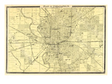 1876, Indianapolis - Plan, Indiana, United States Giclee Print
