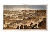 1882, Grand Canyon - Sheet XVII - Panorama from Point Sublime, Arizona, United States Giclee Print