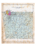 1903, Township 17 North, Ranges 33 and 34 West, Siloam Springs City, Illinois River, Trident P.O. Giclee Print
