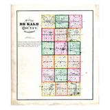 1871, DeKalb County Map, Illinois, United States Giclee Print