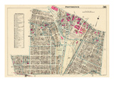 1937, Providence Plate 036, Rhode Island, United States Giclee Print