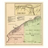 1877, Fort Kent, Saint Francis Plantation, Saint John Plantation, Maine, United States Giclee Print
