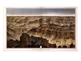 1882, Grand Canyon - Sheet XVI - Panorama from Point Sublime, Arizona, United States Giclee Print