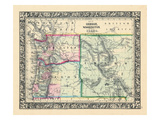 1864, Oregon, Washington and Idaho, Oregon, United States Giclee Print
