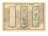 Central Park Development Composition1815-1885 - light, New York, United States, 2007 Giclee Print